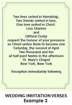 Christian wedding invitations wording wedding ideas Pinterest