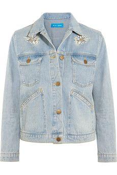 M.i.h Jeans - Embroidered denim jacket