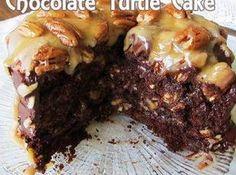 Easy Homemade Chocolate Turtle Cake Recipe