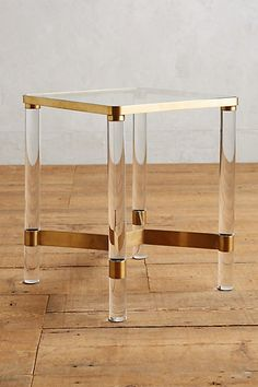 Oscarine Lucite End Table #anthropologie