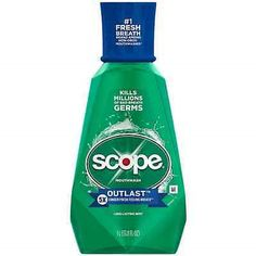 Mouthwash: Scope Outlast Mouthwash, Long Lasting Mint 33.80 Oz (Pack Of 5) -> BUY IT NOW ONLY: $48.06 on eBay!