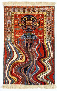 Faig Ahmed Contemporary Rugs from Traditional Azerbaijani Textiles — Contemporary Art Curator Magazine Carpet Diy, Magic Carpet, Rugs On Carpet, Fur Carpet, Carpet Ideas, Modern Carpet, Berber Carpet, Glitch Art, Home Decoracion