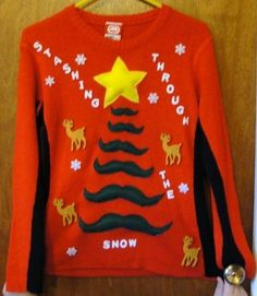 i don't know if i would wear it but i think it would be the best ugly sweater for ugly sweaty