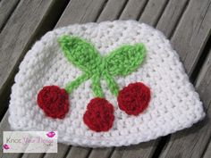 Small Crochet Cherries Applique