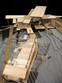 Model for sustainable beachfront visitor center by fourth-year student Rebekah Meeks.