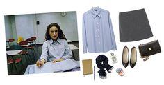 AUTUMN CAPSULE WARDROBE | Sea of Shoes chambray blouse + grey skirt + ballet skirts