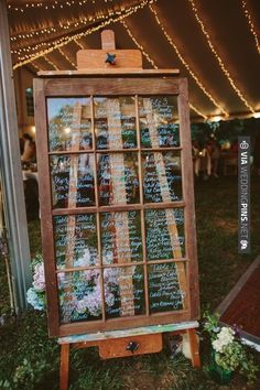 vintage wedding on an easel for guests to find their seats   CHECK OUT MORE IDEAS AT WEDDINGPINS.NET   #weddings #weddingseating #weddingdecoration