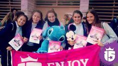 Las chicas del Guadalupe más cerca de #Disney con #Enjoy15#Transatlántica #PromoTeam2016