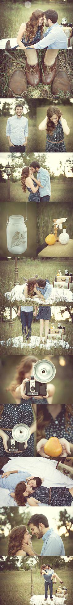 Vintage Inspired Couple Shoot | Kourtney Hand Photography