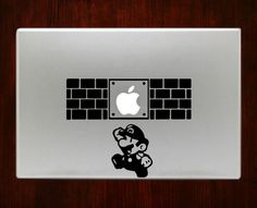 Super Mario1 Decal Sticker For Macbook Pro Air Retina 11 / 13 / 15 / 17 inch Macbook Laptop 1. Easy application in minutes.2. High resolution, full detail precision cut.3. Decals are cut on High Quali