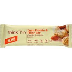 Think Products Thinkthin Bar - Lean Protein Fiber - Chocolate Peanut - 1.41 Oz - 1 Case