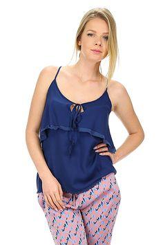 Kocca - Top - Abbigliamento - Top in cotone e viscosa con allacciatura con fiocco sul davanti e nappine sul fondo.La nostra modella indossa la taglia /EU XS. - 72320 - € 72.00