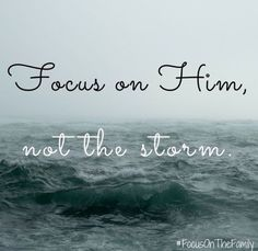 """Remember, the One http://facebook.com/173301249409767 who had power to rebuke the wind and say to the troubled sea """"Peace, be still"""" also has power to calm our souls and strengthen us with refuge against the storms of this world. http://pinterest.com/pin/24066179234881917 Trust in Him, and as the Master """"of ocean and earth and skies"""" has admonished, """"Be still (Ps. 46:10); …Look unto me in every thought; doubt not, fear not"""" (D&C 6:36). ... Focus on Him, not the storm."""