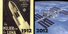 One hundred years of space travel, from fiction to fact. What the mind can conceive and believe man will achieve. One Hundred Years, Space Travel, History, World, Tableware, Photography, Truths, Fiction, Historia