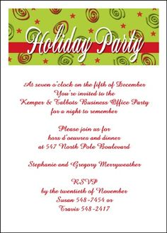 59 best business holiday christmas invitations images on pinterest