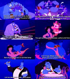 Aladdin is one of my favorite Disney movie! Genie, Abu, and Carpet are my favorite characters! Disney Dream, Disney Love, Disney Magic, Disney Stuff, Disney And Dreamworks, Disney Pixar, Walt Disney, Disney Songs, Disney Quotes