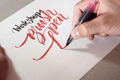 Workshop Brush pen Letters on Typography Served