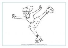 Figure Skating Colouring Page - MORE Winter Olympics