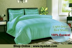 Shop Online :  http://www.byadab.com/mec-400-tpi-stripe-light-green.html The light green lovely #bed sheet comes with stunning pillow cover that is 100% made of eucalyptus tree. The bed #sheet is of king size with stylish pillows that, absolutely work for your bed and trying wonderful. Showroom Address: Shop No-8, N-Block, Greater Kailash, Part-1, New Delhi - 110048