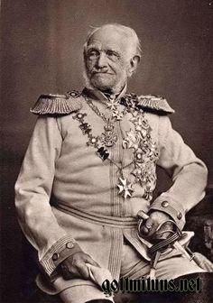 ■ Generalfeldmarschall Friedrich Heinrich Ernst Graf von Wrangel1784-1877. Photo shows Graf von Wrangel in 1875.