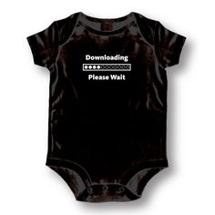 """Attitude Rompers """"Downloading"""" Baby Romper, Black, 18 Months -- To view further for this item, visit the image link."""