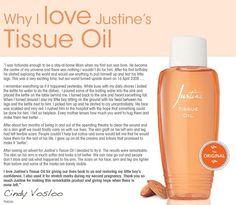 Justine's Tissue Oil - Got goosebumps when reading this!!
