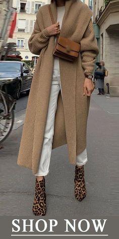 Mode reine Farbe Langarm-Pullover - Women Plus Size Ideas Cool Street Fashion, Look Fashion, Trendy Fashion, Winter Fashion, Street Style, Fashion Outfits, Womens Fashion, Fashion Trends, Fashion Ideas