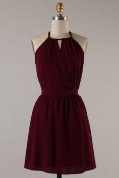 Woven Maroon Dress