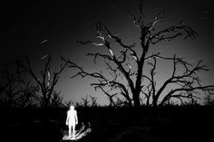 Trent Parke, Magnum Photos AUSTRALIA. Outback New South Wales. Menindee. Midnight, Australian photographer Trent PARKE by himself. 2003
