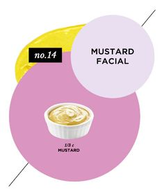 Skin-Balancing Mustard Facial Try it: When all signs (extreme sensitivity, acne, inflammation, etc.) point to a skin pH imbalance. will keep your skin in balance. Ingredients: 1/3 cup mild mustard  Directions: First, patch test the mustard on a small area of skin to make sure it's mild enough to safely use on skin. If no irritation occurs, spread the mustard on your face.  Wait 15 minutes, then wash off with warm water.
