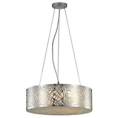 Weave Polished Chrome Chandelier By Lighting Pecaso