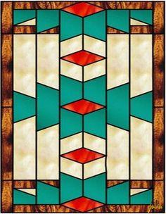 Quilt clip art southwest quilt patterns free patterns home . Stained Glass Quilt, Stained Glass Designs, Stained Glass Projects, Stained Glass Patterns, Southwestern Quilts, Southwest Art, Motif Art Deco, Art Deco Design, Clipart