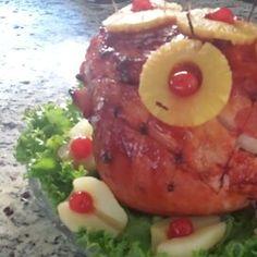 Honeydear's Holiday Pineapple Baked Ham Baked Ham With Pineapple, Pineapple Glaze, Sweet Ham Gravy Recipe, Ham Dinner, Easter Ham, Ham Glaze, Smoked Ham, Ham Recipes, Holiday Baking