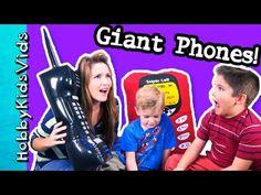 282e5cb2d8 Behind-the-Scenes HobbyMom GIANT Phone HobbyKidsVids