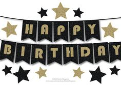 happy birthday bunting banner printable by paperscissorspop