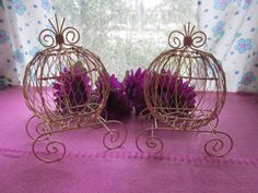 Hey, I found this really awesome Etsy listing at https://www.etsy.com/listing/227818220/golden-mini-cinderella-carriage-set-of-2 what do u think?