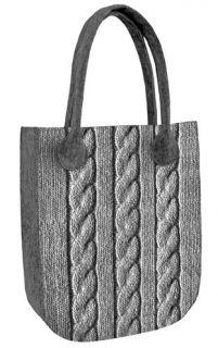 Filcová kabelka City Pletený vzor Straw Bag, Tote Bag, City, Bags, Fashion, Sew Bags, Handbags, Moda, La Mode