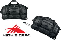 "New High Sierra 30"" Executive Sport Wheeled Charcoal Carry On Travel Duffel Bag #HighSierra"