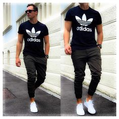 Classic hip but simple. Joggers Adidas shoes Adidas shirt completes this hip - Mens Shirts Casual - Ideas of Mens Shirts Casual - Classic hip but simple. Joggers Adidas shoes Adidas shirt completes this hip cool street style look. Adidas Shirt, Adidas Sneakers, Running Sneakers, Adidas Joggers, Shoes Sneakers, Adidas Shoes Men, Mens White Sneakers, White Shoes Men, Sneakers Style