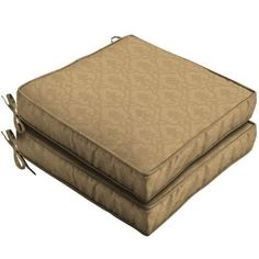 Patio Cushion Ideas - Hampton Bay Bellagio Outdoor Seat Cushion - The Home Depot Outdoor Spaces, Outdoor Living, Patio Seat Cushions, Traditional Dining Chairs, Outdoor Fabric, The Hamptons, Living Spaces, Cushion Ideas, Outdoors