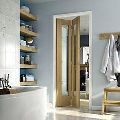 Wickes Marlow White Softwood 4 Panel Shaker Internal Door - x Oak Doors, Panel Doors, Internal Glazed Doors, Room Divider Doors, Room Dividers, Veneer Door, Best Home Interior Design, Interior Decorating, Off White Walls