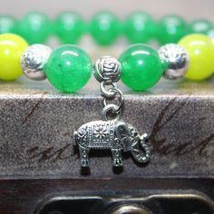 4th  Heart-Chakra Bracelet,  Natural Green Jade bracelet Yoga Bracelet, Mens, Women Beaded Bracelet, Meditation bracelet. by AgouraDesign on Etsy