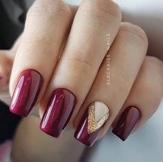 Make an original manicure for Valentine's Day - My Nails Xmas Nails, Holiday Nails, Christmas Nails, Orange Nails, Red Nails, Hair And Nails, Nail Pink, Nail Nail, Cute Nails
