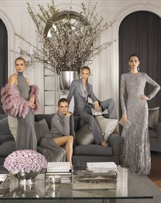 """My Collection for Fall 2014 is about a pure kind of luxury, a sophisticated ease inspired by architectural shapes in soft, shimmering hues – a nonchalance that redefines glamour for the modern woman"" – Ralph Lauren"