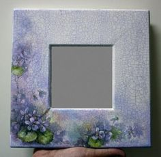 Mirror Painting, China Painting, Tole Painting, Painting On Wood, Decoupage Glass, Decoupage Box, Decoupage Vintage, Painted Picture Frames, Picture Frame Decor
