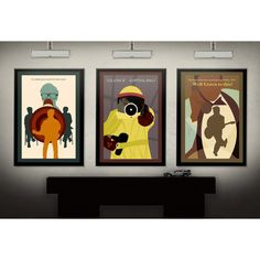 """Back to the Future Inspired Minimalist 11""""X17"""" Art Print Set of 3... ($50) ❤ liked on Polyvore featuring home, home decor, wall art, star wars home accessories, photo wall art, guitar wall art, motivational wall art and colorful home decor"""