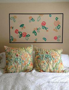 washi tape wall art Jennifer Allevato: A little wall art