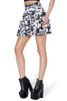 Raven Pocket Skater Skirt - LIMITED