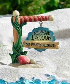 Under the Sea Mermaid Lagoon Sign GI 700312 Miniature Figurine Fairy Garden | eBay
