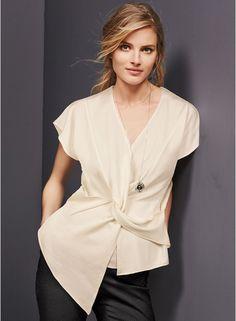 Buy Next Cream Asymmetric Knit Top for Women Online India, Best Prices, Reviews | NE988WA18BININDFAS